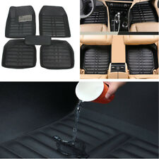 5x Skidproof Black Leather 5Seat Car Floor Mats Auto Front & Back Mats Universal