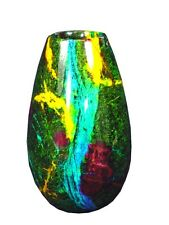 BUTW  7 Color Serpentine Jade Vase Urn Sculpture Consilio Decor 3627K abe