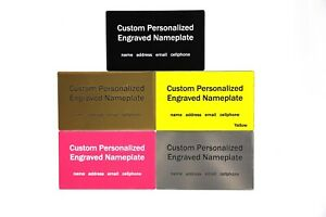 Custom engraved Label Decal fits Pelican 1400 1430 1440 1450 1460 case nameplate