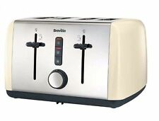 Breville Colour Collection VTT760 Toaster Dual Slot Cream 4 Slice Toaster New