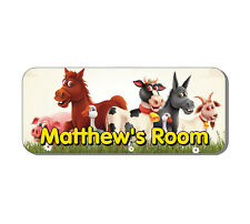 Farm Animals Door Plaque - Horse, Pig Personalised Childrens Bedroom Sign Gift
