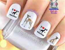 "RTG Set#177 DOG BREED ""Whippet 3 Brown Puppy"" WaterSlide Decals Nail Transfers"