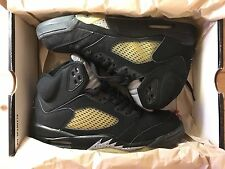 NIKE AIR JORDAN 5 V BLACK METALLIC SILVER 1999 SIZE UK8 42.5