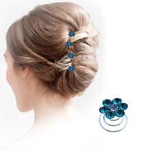 Crystal Hair Spirals Fashion Ladies Wedding Diamante Twists Spinners Accessories
