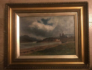 Antique signed Oil (Skye) painting by Scottish artist James Alfred Aitken RSW