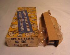 Box Of 4 GE General Electric 503 GE503 Miniature Hand Lantern Light Bulbs Lamps