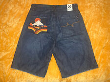 Men's Lifted Research Group LRG Geans Jean Denim Shorts Dark Blue Size 32 NEW