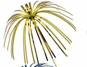 "GOLD Palm Tree Cocktail Sticks 9 "" long- Set of 24 - Foil Drink Decorations"