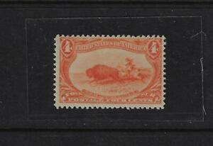 US 1898 Chasse Buffalo 4 ¢ Orange Original Gomme Très Léger à Charnières Sc 287