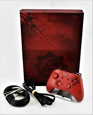 Microsoft Xbox One S 2TB Gears Of War 4 Special Edition 1681 - W. Red Controller