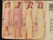 Amazing OOP BUTTERICK 4297 Misses Lined Dress & Belt PATTERN 12-14-16 UC