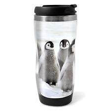 Emperor Penguin Chicks Travel Mug Flask - 330ml Coffee Tea Kids Car Gift #13280