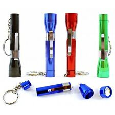 Flashlight Keychain Metal Smoking Tobacco Pipe - Stealth