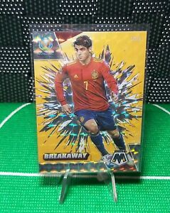 2020-21 Mosaic UEFA BREAKAWAY Yellow /25 Alvaro Morata Insert SPAIN Juventus