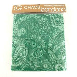 Chaos Paisley Bandana Fleece Lined Hook & Loop Closure Green