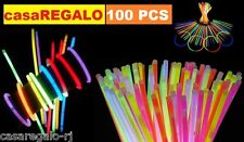 100 Pcs Mixed Colour Glow Sticks Bracelet Light Glowsticks Glow in Dark Party