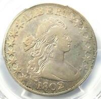 1802 Draped Bust Half Dollar 50C Coin - PCGS VF Details - Rare Date - Near XF!