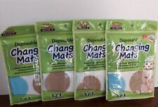 New Diaper Changing Pads Disposable Mats Set of 4