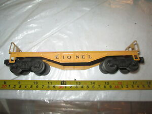 Lionel Metal Yellow Flay car 6151, 6121
