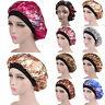 Satin Night Sleep Cap Women Fizzy Hair Care Bonnet Adjust Hat Head Cover Wrap
