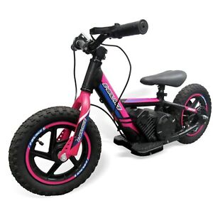 """Electric Balance Bike 12"""" 100w 24v with larger 5.2ah Battery  2 speed -Pink"""