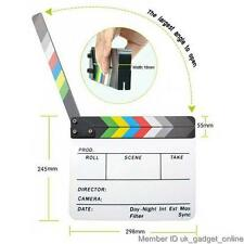 TV Play/Film/Movie Shooting Clapper Board Slate Colorful