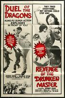 Duel of the Dragons/Revenge of the Drunken Master   1-SHEET MOVIE POSTER 27 x 40
