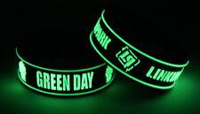 Green Day Linkin Park G7L7 New! 2x Bracelet Wristband Glow in the Dark