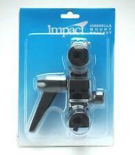 "Impact Umbrella Mount Bracket With Cold Shoe, 1/4 & 3/8"" Adapters. Unused Useful"