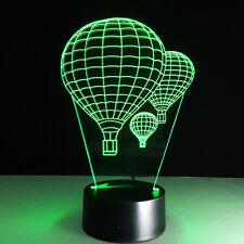 3D Nuit Lumière Lampe Coloré Ballon à Air Chaud Montgolfière Cadeau Bureau Neuf