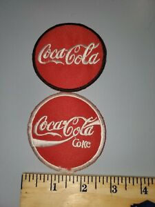LOT OF 2 COCA COLA COKE  EMBROIDERED IRON ON PATCHES