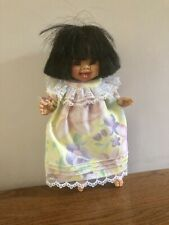 Soft Cuddly Toy. Girl In Floral Dress. Bendy. 10 Inches.
