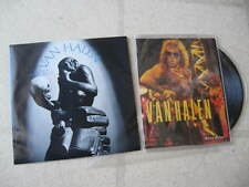 """VAN HALEN PAIR(2) VINTAGE US 7"""" 45s w/PICTURE SLEEVE & FOLD-OUT POSTER NEW/MINT"""