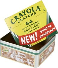 Crayola Crayon Collectors Tin With 64 Pack Of Crayons / New