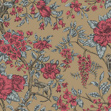 Holden Bertuccia Monkey Gold Beige Luxury Floral Feature Wallpaper 98111