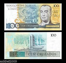 Brasil 100 Cruzados 1987 p-211c Perfecto Unc sin circulación los billetes de banco