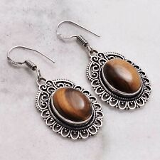 "Earrings Jewelry 1.28"" Ae 78539 Tiger Eye Handmade Drop Dangle"