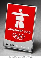 OLYMPIC PIN 2010 VANCOUVER CANADA SRG SSR SWITZERLAND M
