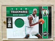 2011-12 Panini Limited Kevin Garnett Team Trademarks game-worn Boston 10/99