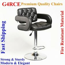 Breakfast Bar Stool Swivel PU Leather Kitchen Chrome Metal Bas Gas Lift Chair UK
