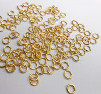 500PCS 3M-9MM Jewelry Findings Connector DIY Necklace 18K GOLD Plate Jump Rings