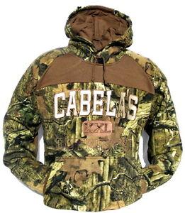 Cabela's Men's Ultra Heavyweight Mossy Oak Break-Up INFINITY Hunting Hoodie L XL