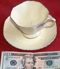 DUCHESS EST 1888 FINE BONE CHINA CREAM AND GOLD CUP SAUCER MADE IN ENGLAND