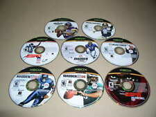 Xbox, Lot of 8 Football Video Games, NFL, Used, NO CASES!