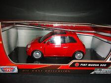 Motormax Fiat Nuova 500 Red 1/24