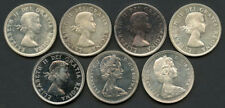 Lot of 7 1960-1966 Canada Silver Dollars w/ Proof-Like 1964!