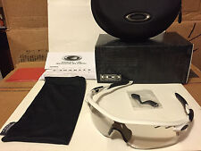 NEW Oakley Radarlock Path Matte White / Clear Black Photochromatic, OO9181-37