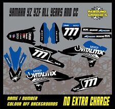 YAMAHA YZ YZF 85 125 250 450 MOTOCROSS FULL GRAPHICS KIT-DECALS-STICKERS-MX VITA