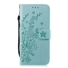 Plum blossom Wallet Leather Flip Case Cover For Samsung S5 S6 S7 S8 S9Plus J3 J5
