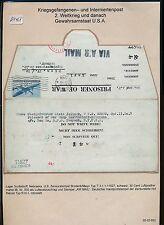 K1468) guerra catturati post LP-lettera Camp Scottsbluff Nebraska 11/44 > Vienna